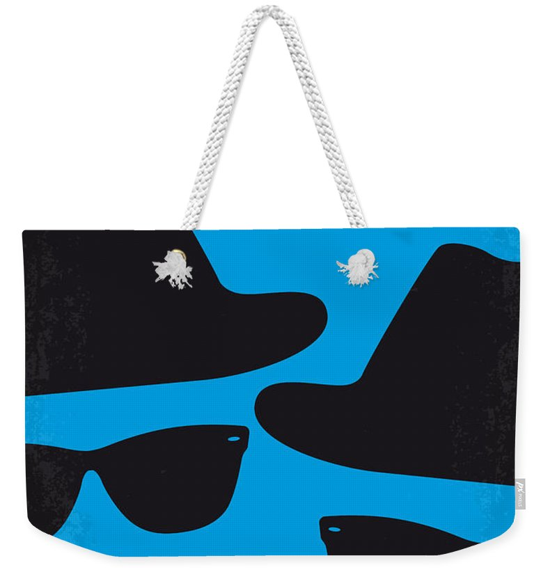 Blues Weekender Tote Bag featuring the digital art No012 My Blues Brother Minimal Movie Poster by Chungkong Art
