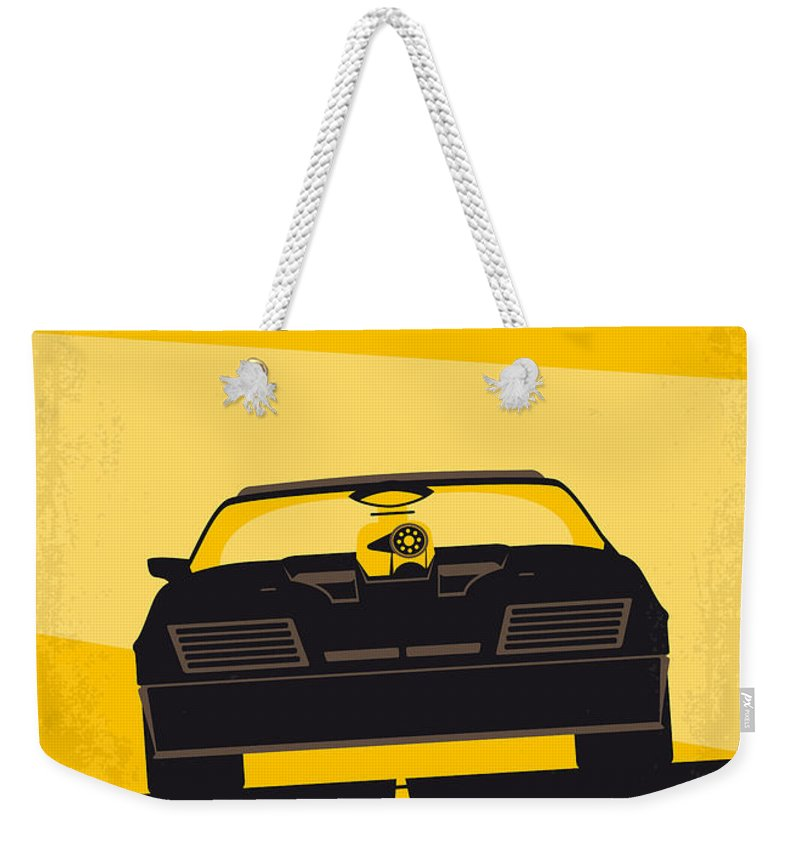 Mad Weekender Tote Bag featuring the digital art No051 My Mad Max Minimal Movie Poster by Chungkong Art