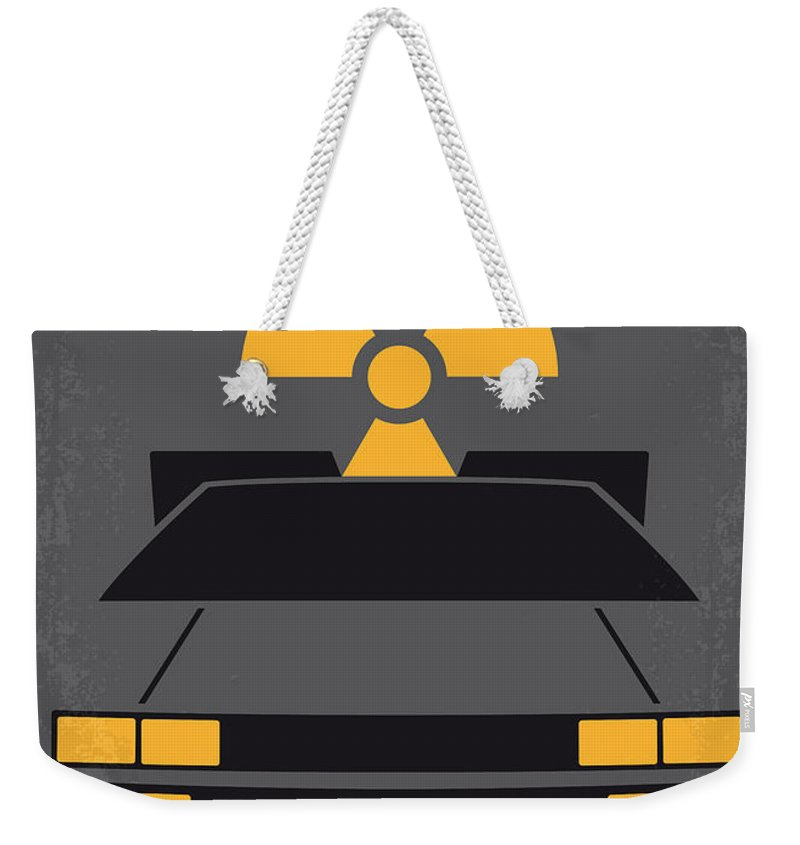 Back Weekender Tote Bag featuring the digital art No183 My Back to the Future minimal movie poster by Chungkong Art