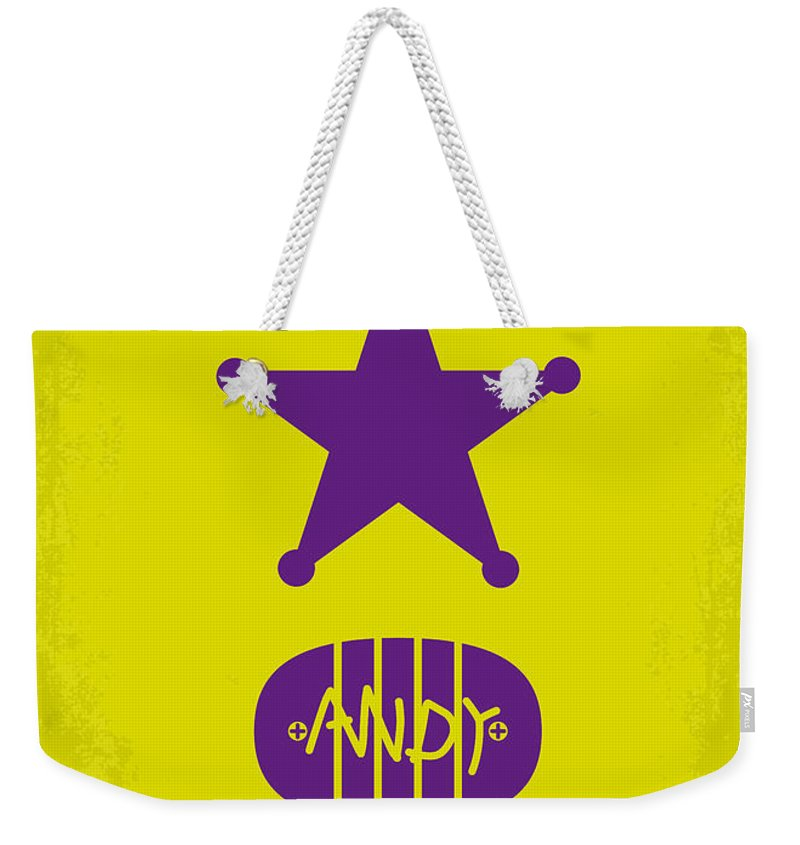 Toy Weekender Tote Bag featuring the digital art No190 My Toy Story Minimal Movie Poster by Chungkong Art
