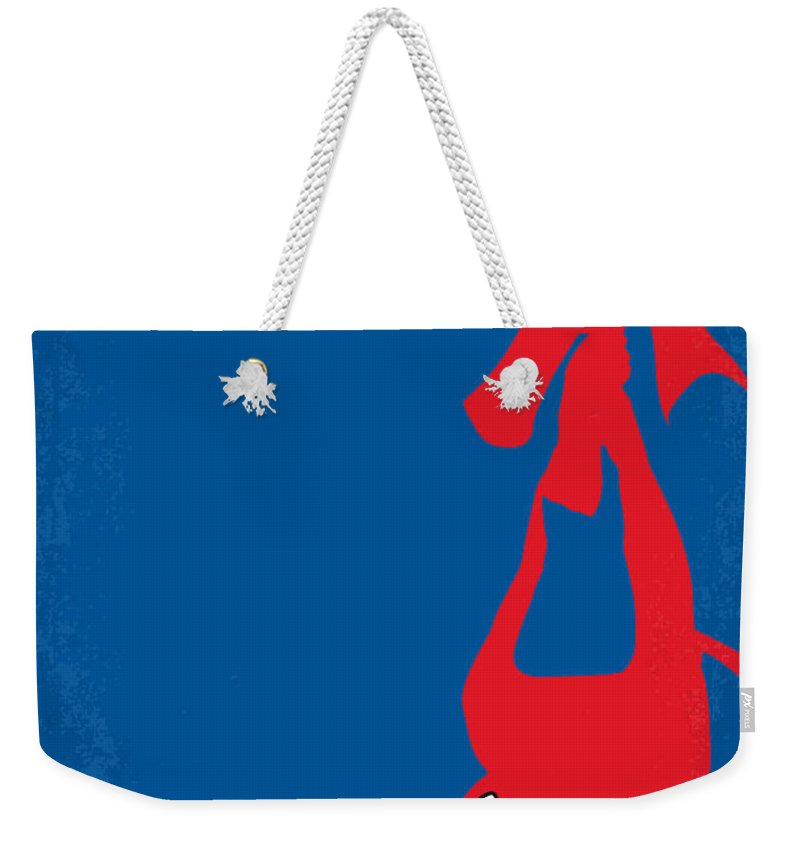 Spider-man Weekender Tote Bag featuring the digital art No201 My Spiderman Minimal Movie Poster by Chungkong Art