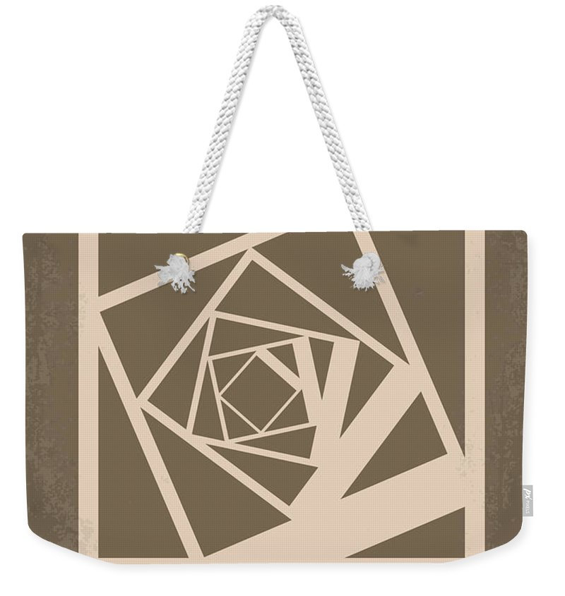 Memento Weekender Tote Bag featuring the digital art No243 My Memento Minimal Movie Poster by Chungkong Art