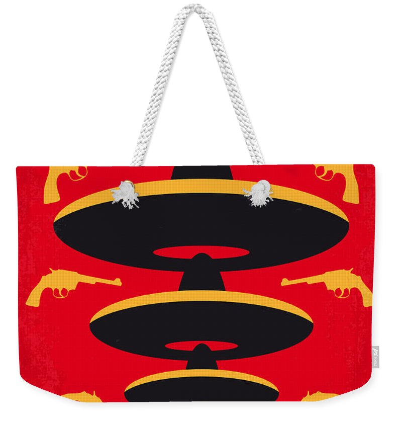 aeee248dae47 Three Weekender Tote Bag featuring the digital art No285 My Three Amigos Minimal  Movie Poster by
