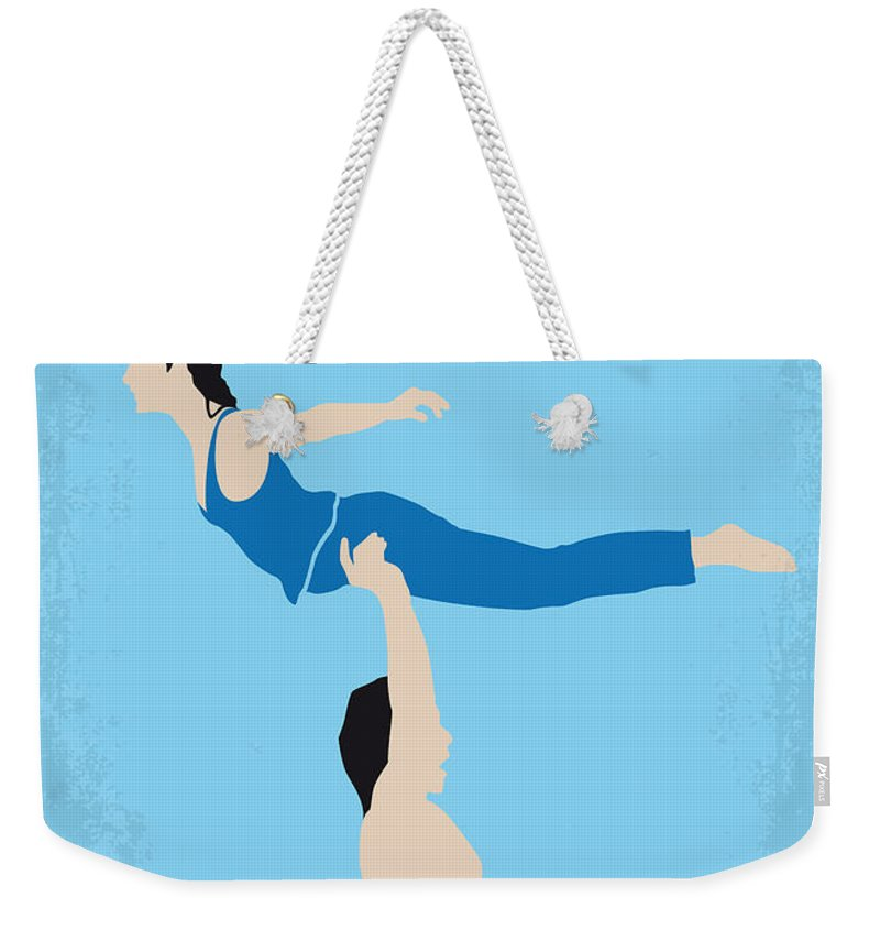 Dirty Weekender Tote Bag featuring the digital art No298 My Dirty Dancing Minimal Movie Poster by Chungkong Art