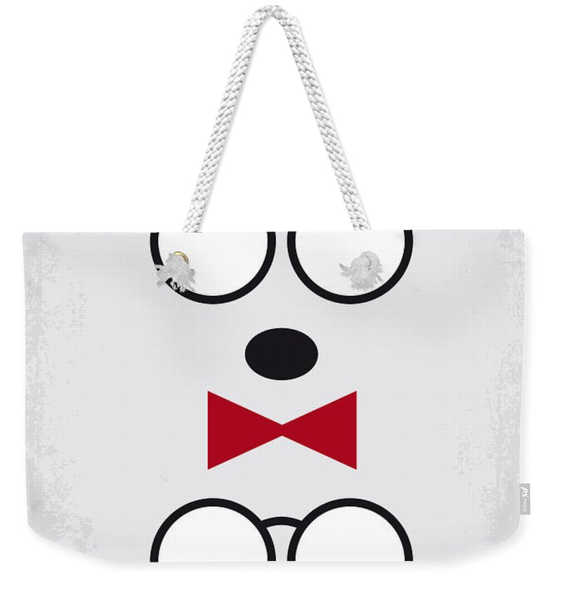 Mr Weekender Tote Bag featuring the digital art No324 My Mr Peabody Minimal Movie Poster by Chungkong Art