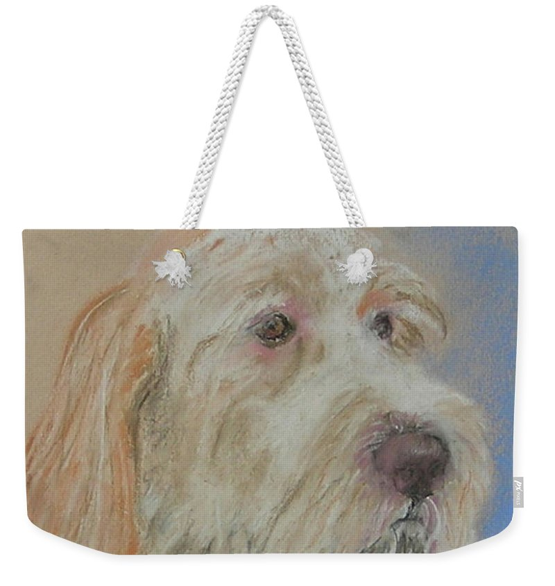 Italian Pointer Weekender Tote Bag featuring the drawing Noble Hunter by Cori Solomon
