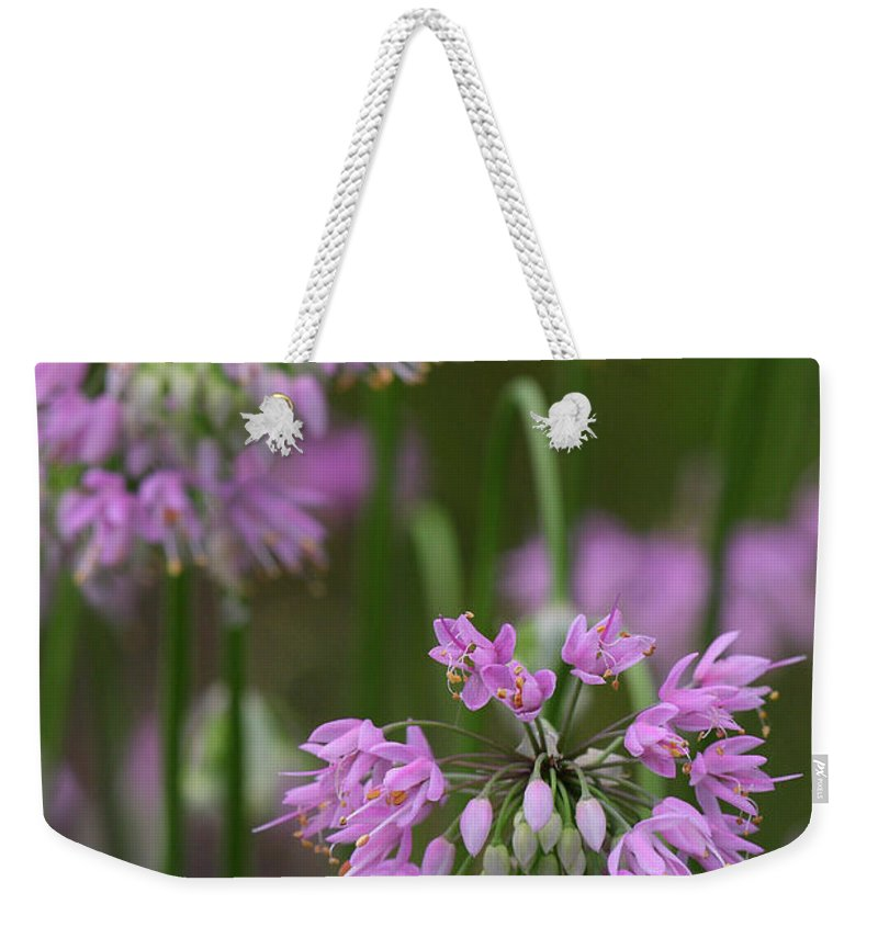 Nodding Wild Onion Weekender Tote Bag featuring the photograph Nodding Wild Onion by Daniel Reed