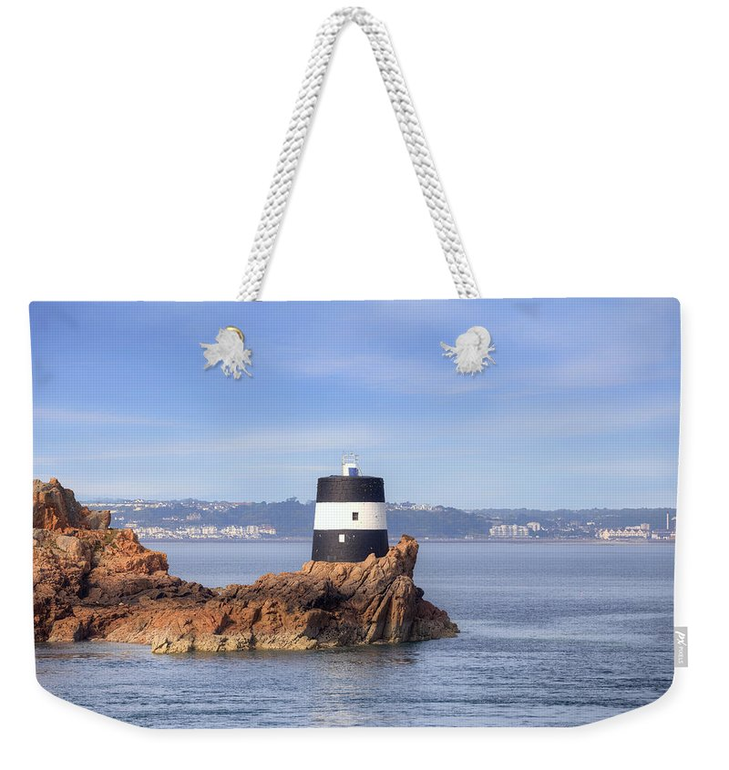 Noirmont Point Tower Weekender Tote Bag featuring the photograph Noirmont Point Tower - Jersey by Joana Kruse