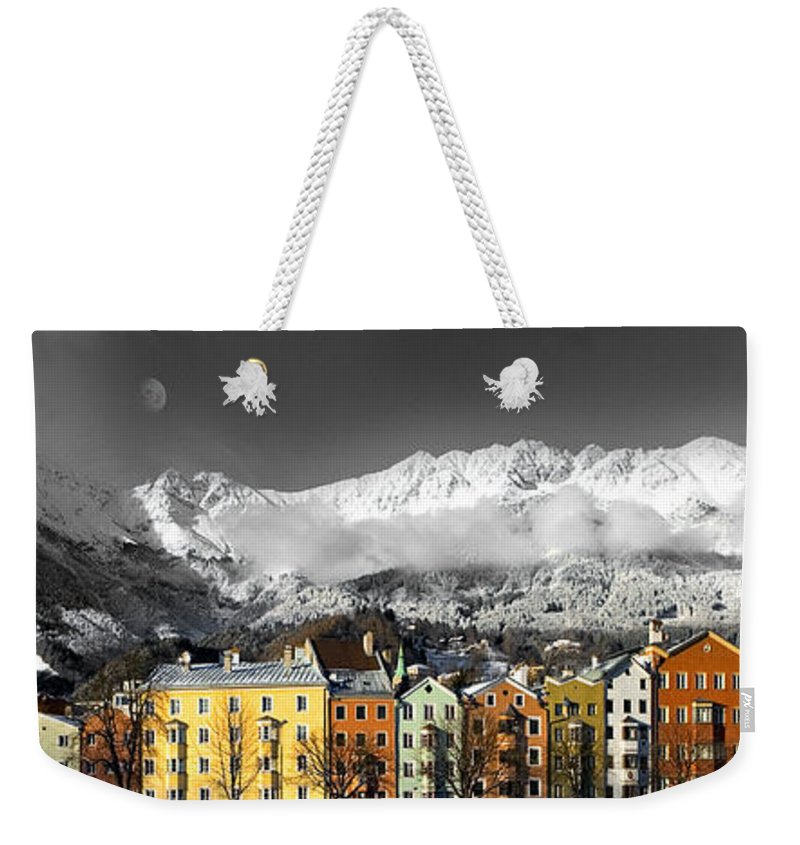 Innsbruck Weekender Tote Bag featuring the photograph Nordkette by Edmund Nagele