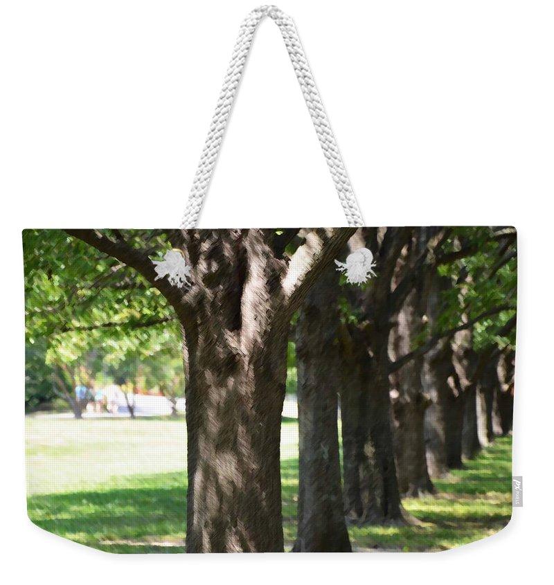 Favorite Spot In The Gardens Weekender Tote Bag featuring the painting Norfolk Botanical Garden 4 by Jeelan Clark