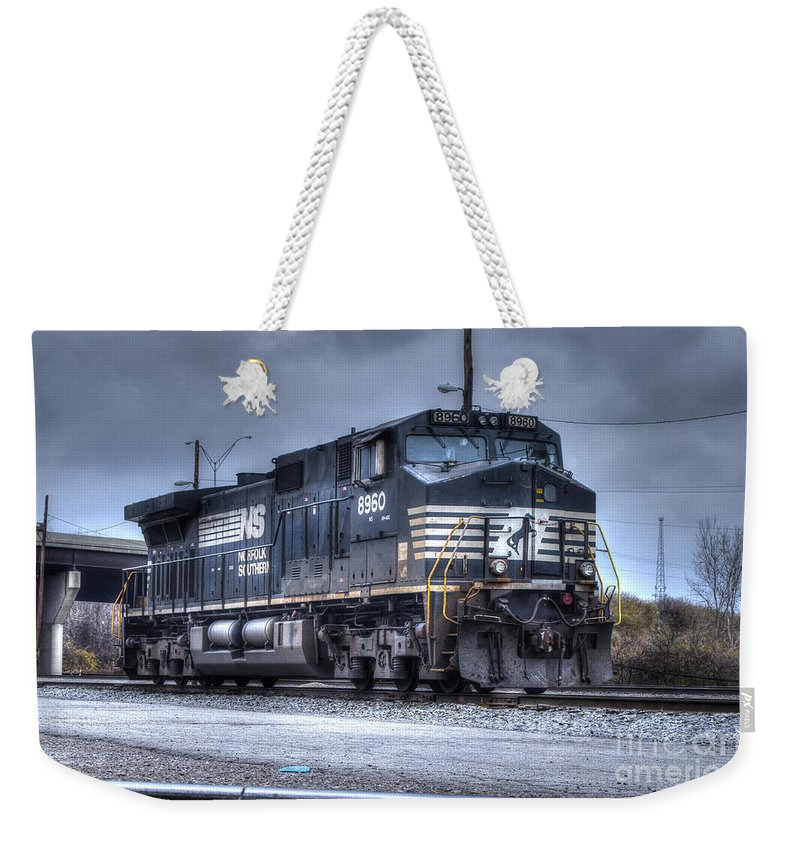 Engine Weekender Tote Bag featuring the photograph Norfolk Southern #8960 Engine II by J M Lister