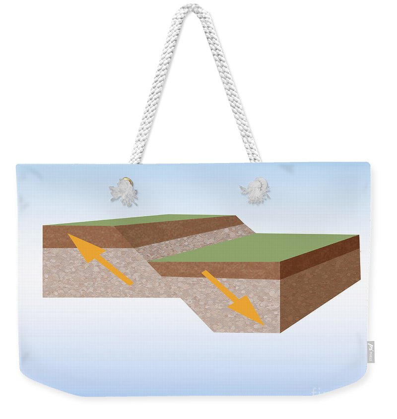 Fault Weekender Tote Bag featuring the photograph Normal Fault Created By Earthquake by Photo Researchers, Inc.