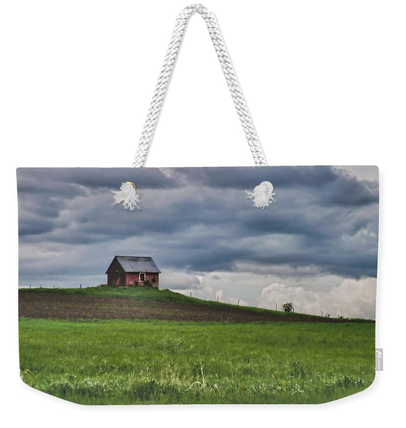 New England Shed Weekender Tote Bag featuring the photograph North 40 by Jeff Folger