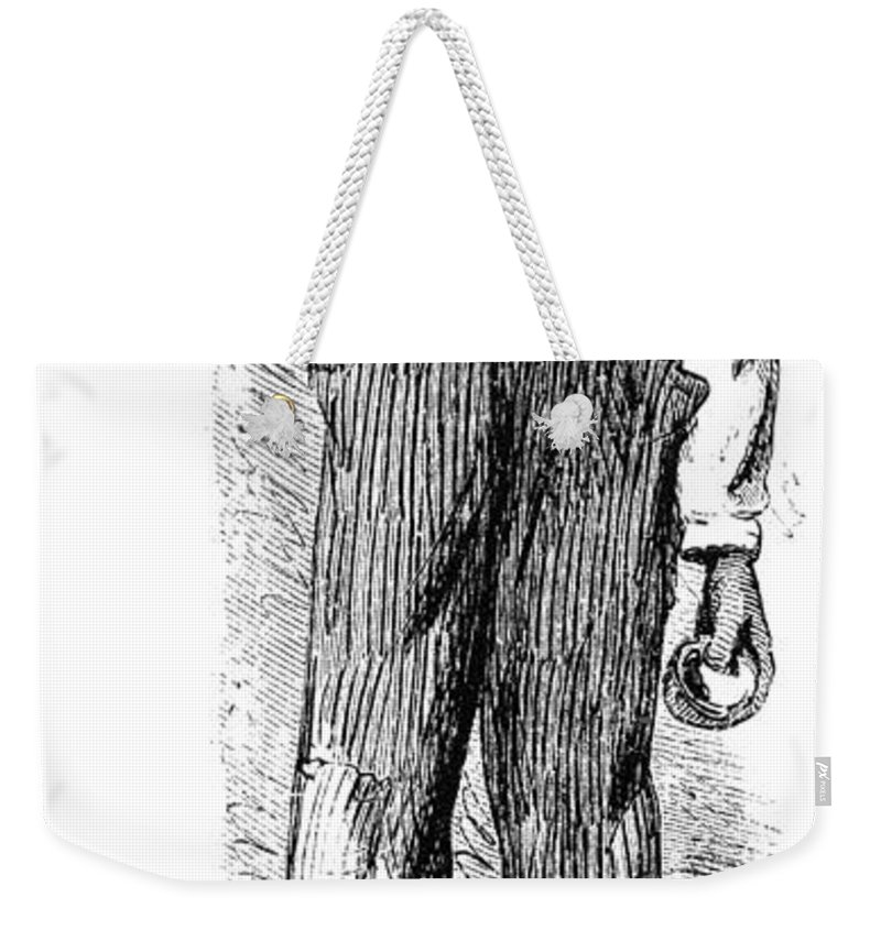 1874 Weekender Tote Bag featuring the painting North Carolina Carpenter by Granger