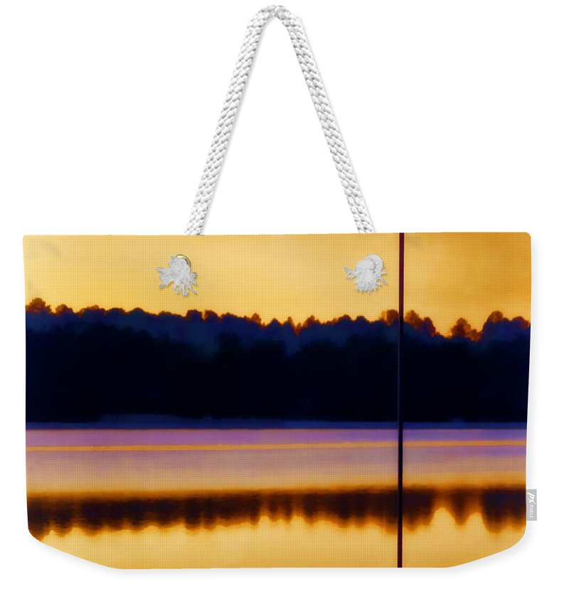 Sunrise Weekender Tote Bag featuring the photograph North Carolina Sunrise by Carol Leigh