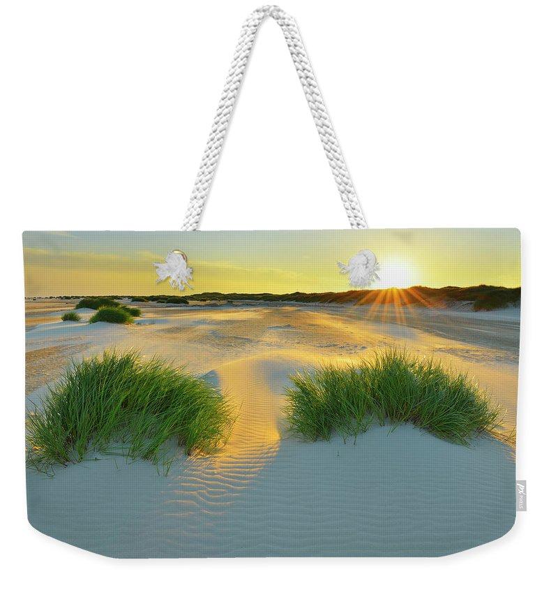 Scenics Weekender Tote Bag featuring the photograph North Sea Sandbank Kniepsand by Raimund Linke
