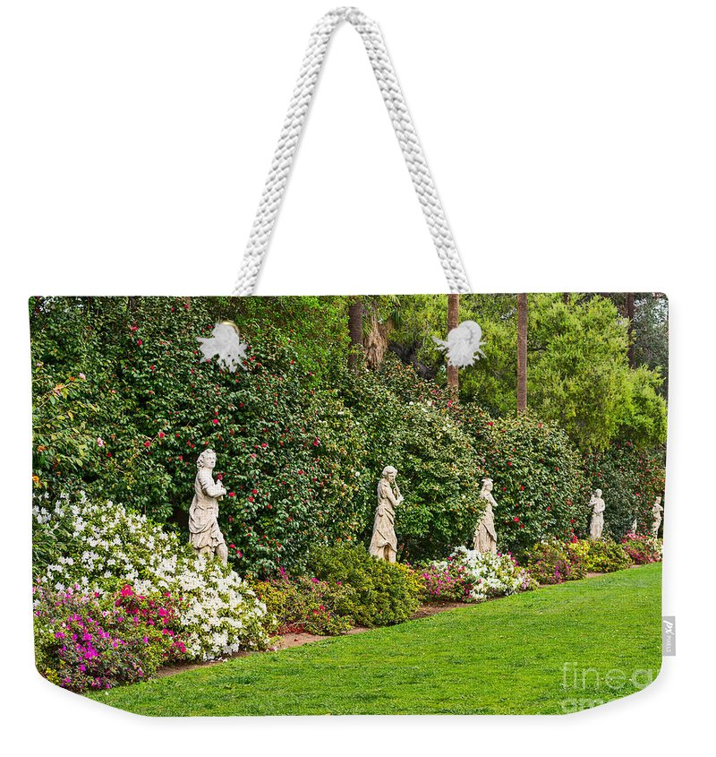Spring Weekender Tote Bag featuring the photograph North Vista - Spring Flower Blooms At The North Vista Lawn Of The Huntington Library. by Jamie Pham