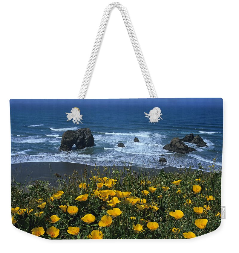 California Weekender Tote Bag featuring the photograph Northern California Coast by Susan Rovira
