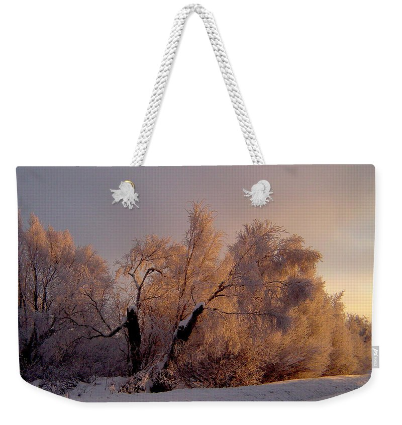 Alaska Weekender Tote Bag featuring the photograph Northern Light by Jeremy Rhoades