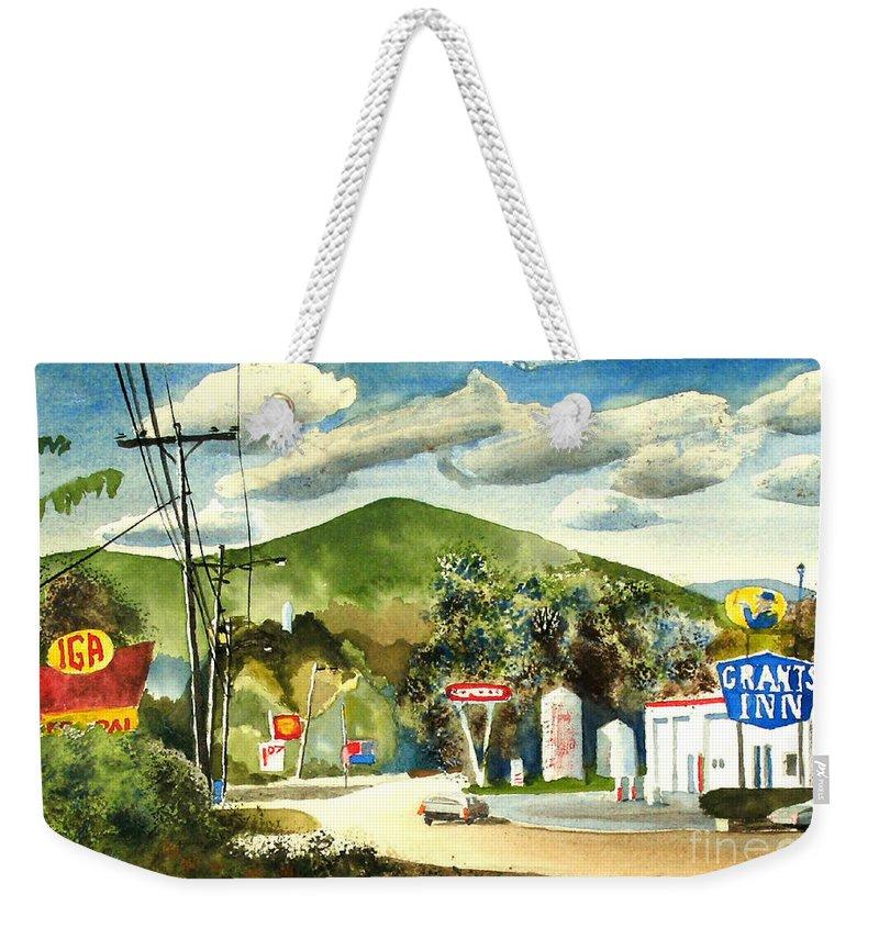 Nostalgia Arcadia Valley 1985 Weekender Tote Bag featuring the painting Nostalgia Arcadia Valley 1985 by Kip DeVore