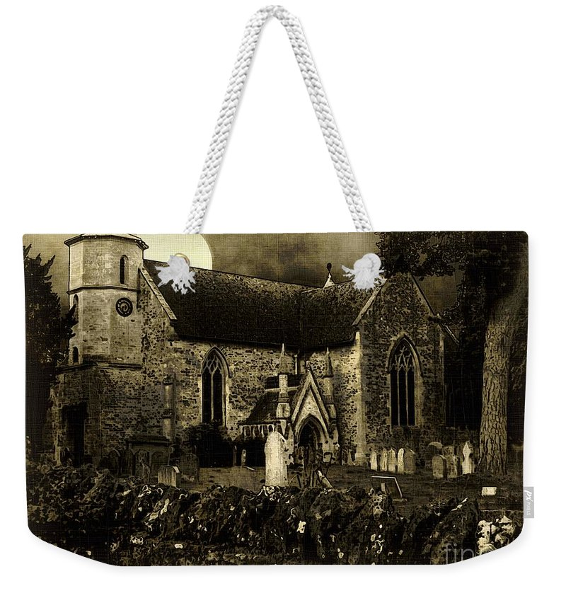 Cemetery Weekender Tote Bag featuring the digital art Not A Creature Was Stirring by RC DeWinter