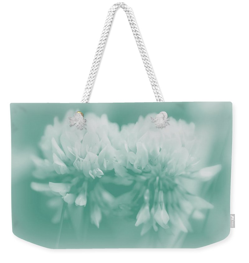 Clover Weekender Tote Bag featuring the photograph Not-so-white White Clover by Mother Nature