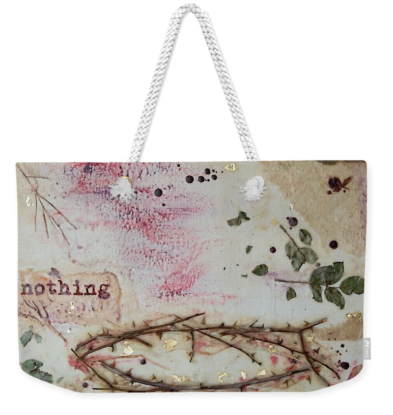 Wax Weekender Tote Bag featuring the painting Nothing Compares by Jocelyn Friis