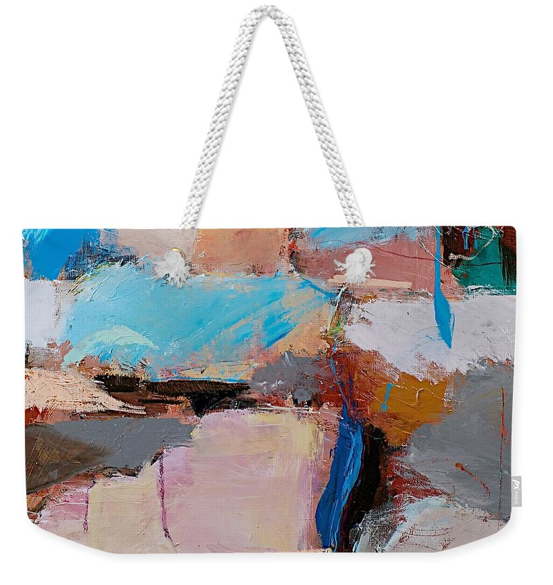 Landscape Weekender Tote Bag featuring the painting Nothing Of Everything by Allan P Friedlander