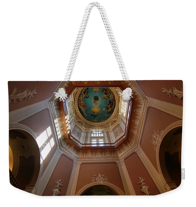 Notre Dame Ceiling Weekender Tote Bag featuring the photograph Notre Dame Ceiling by Dan Sproul