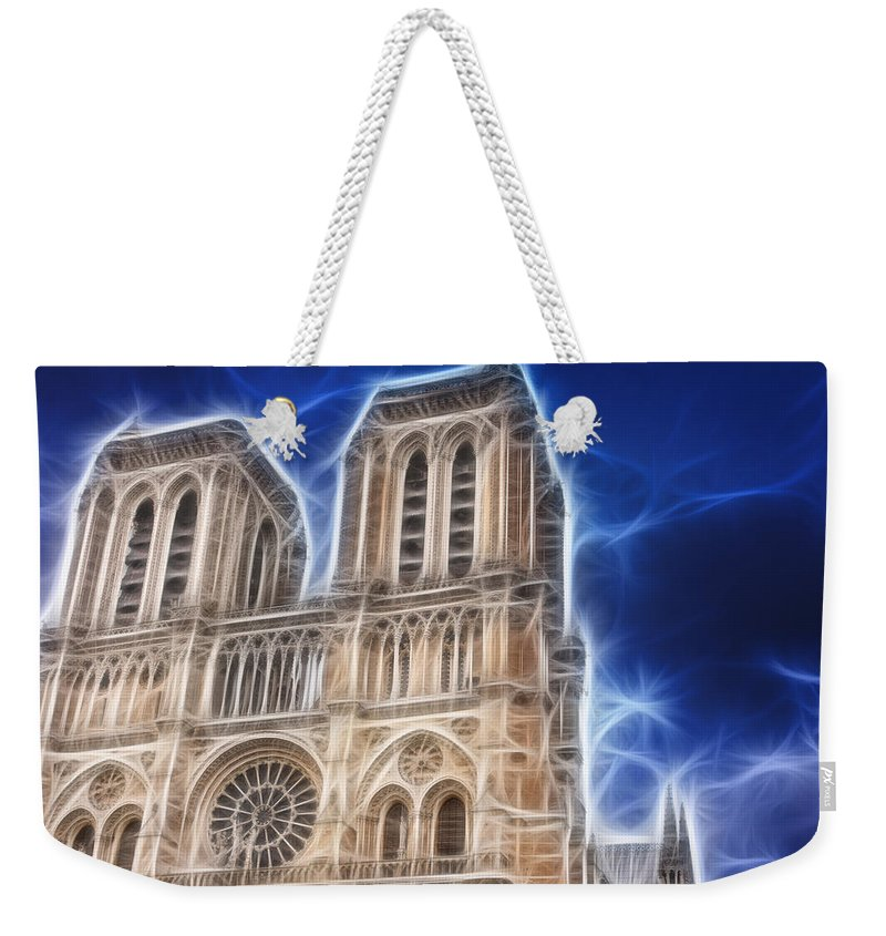 Notre Dame Weekender Tote Bag featuring the photograph Notre Dame Fractal by Pati Photography