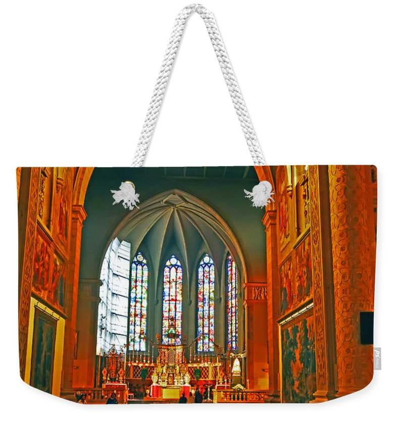 Travel Weekender Tote Bag featuring the photograph Notre Dame Of Luxembourg by Elvis Vaughn