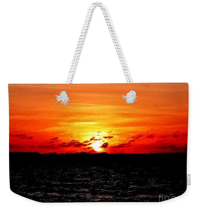 November Sunset Weekender Tote Bag featuring the photograph November Sky by Amar Sheow