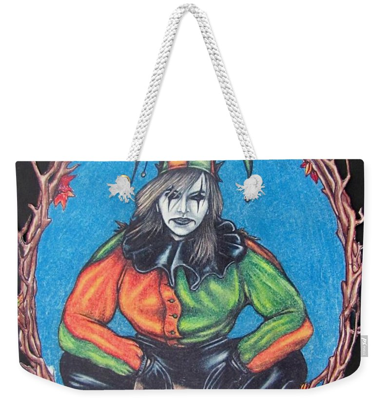 Michael Weekender Tote Bag featuring the drawing November Snow by Michael TMAD Finney