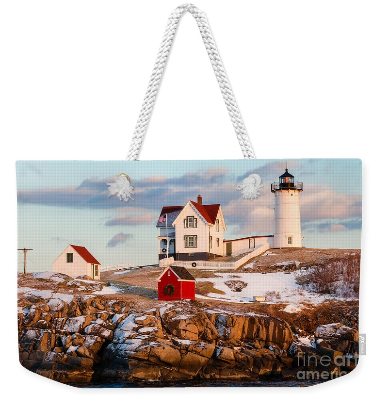 Nubble Light Weekender Tote Bag featuring the photograph Nubble Light York Maine by Dawna Moore Photography