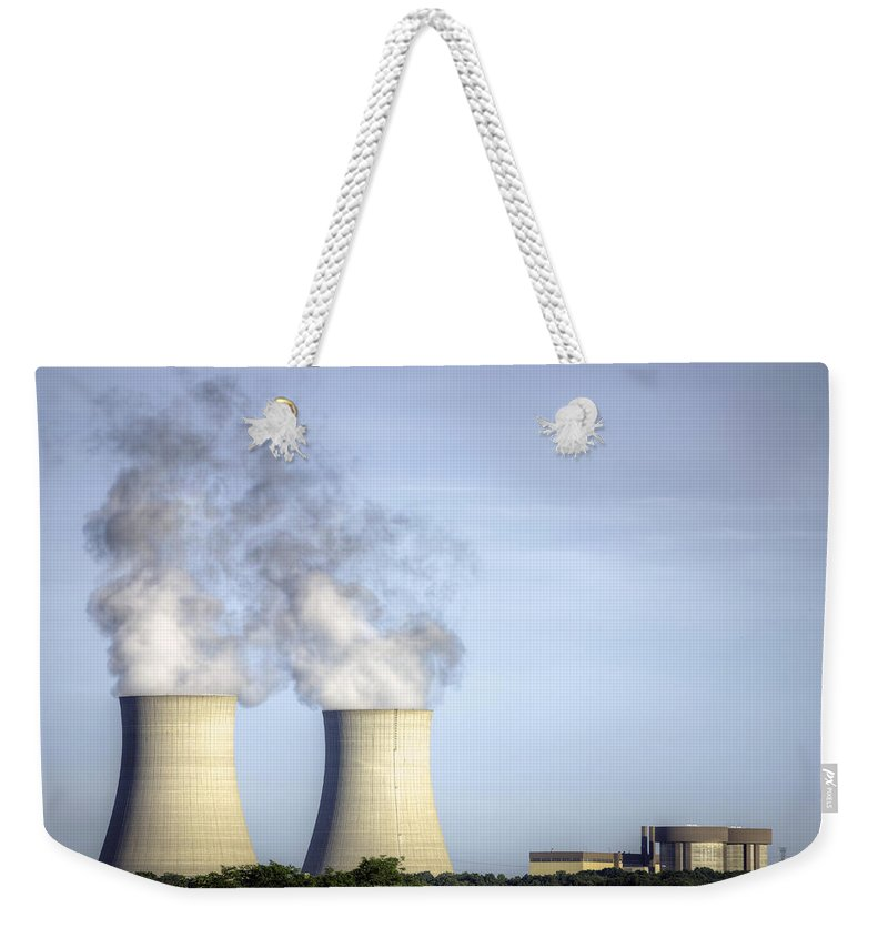 Byron Nuclear Plant Hdr Weekender Tote Bag featuring the photograph Nuclear Hdr3 by Josh Bryant