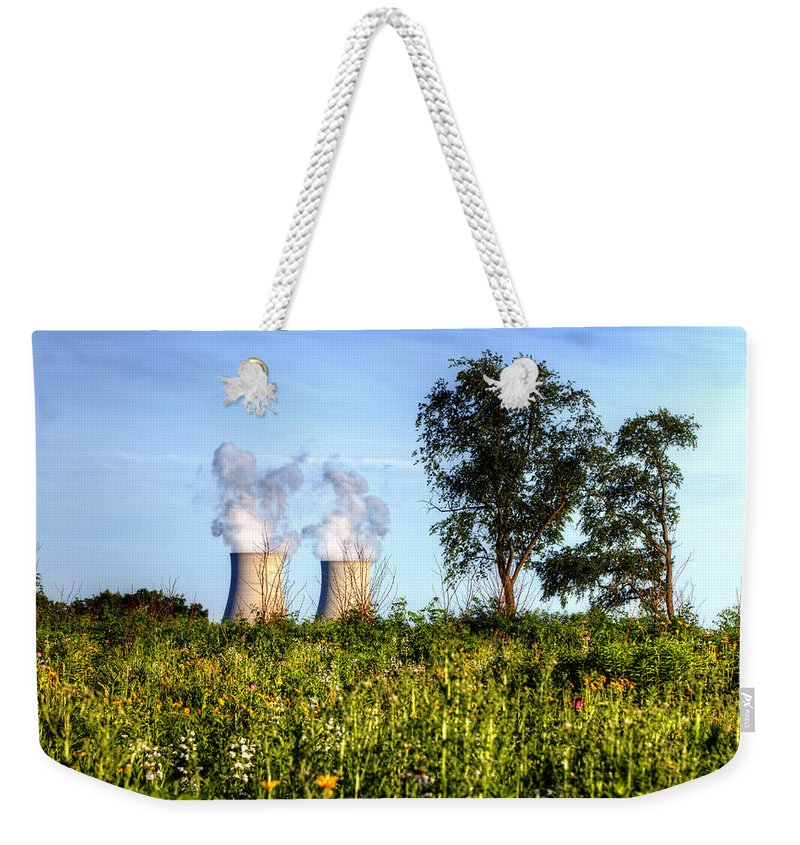 Byron Nuclear Plant Hdr Weekender Tote Bag featuring the photograph Nuclear Hdr4 by Josh Bryant
