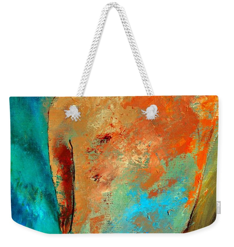 Nude Weekender Tote Bag featuring the painting Nude 453140 by Pol Ledent