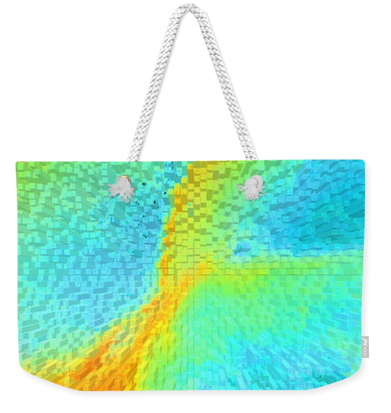 Breast Weekender Tote Bag featuring the painting Nude Effect by Alys Caviness-Gober