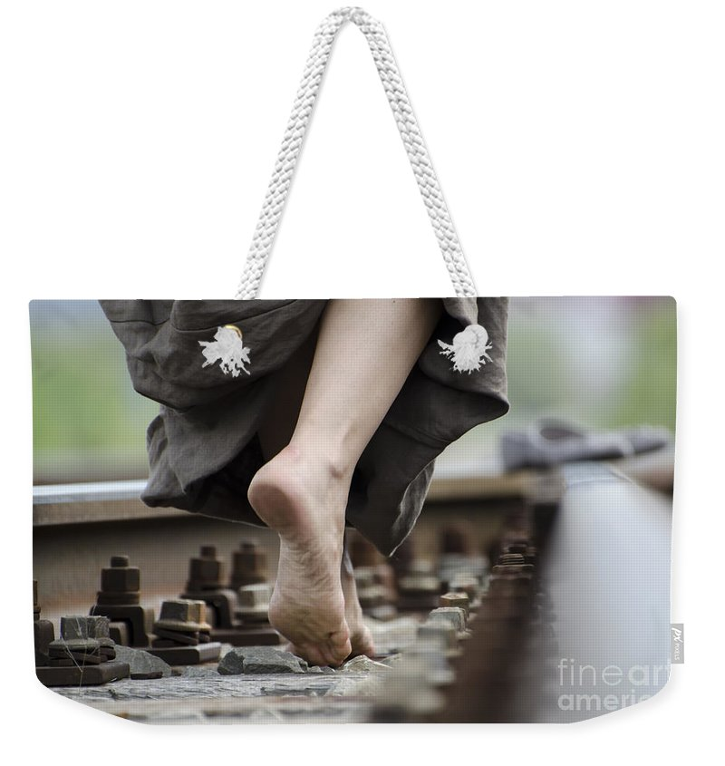 Feet Weekender Tote Bag featuring the photograph Nude Feet by Mats Silvan