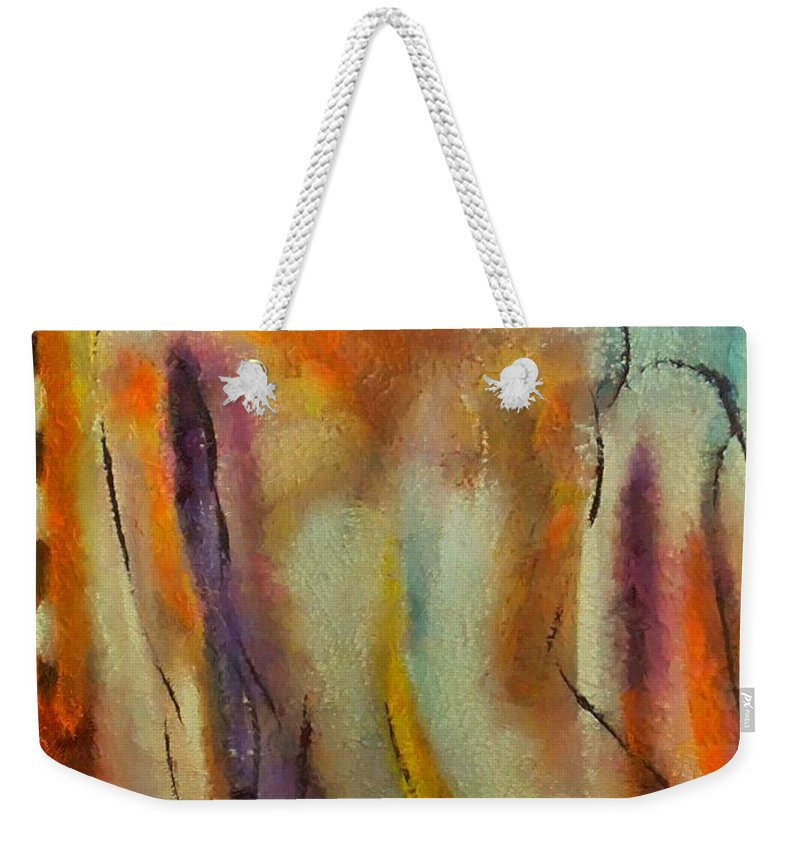 Mixed Media Weekender Tote Bag featuring the mixed media Nude IIi by Dragica Micki Fortuna