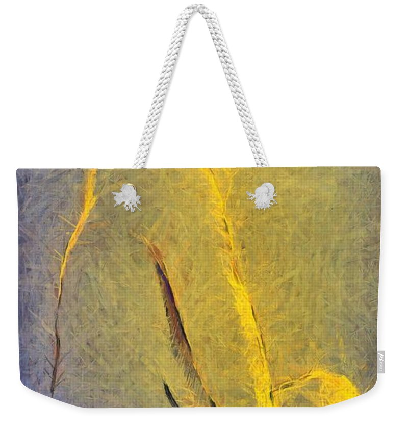 Nude Weekender Tote Bag featuring the painting Nude Iv by Dragica Micki Fortuna