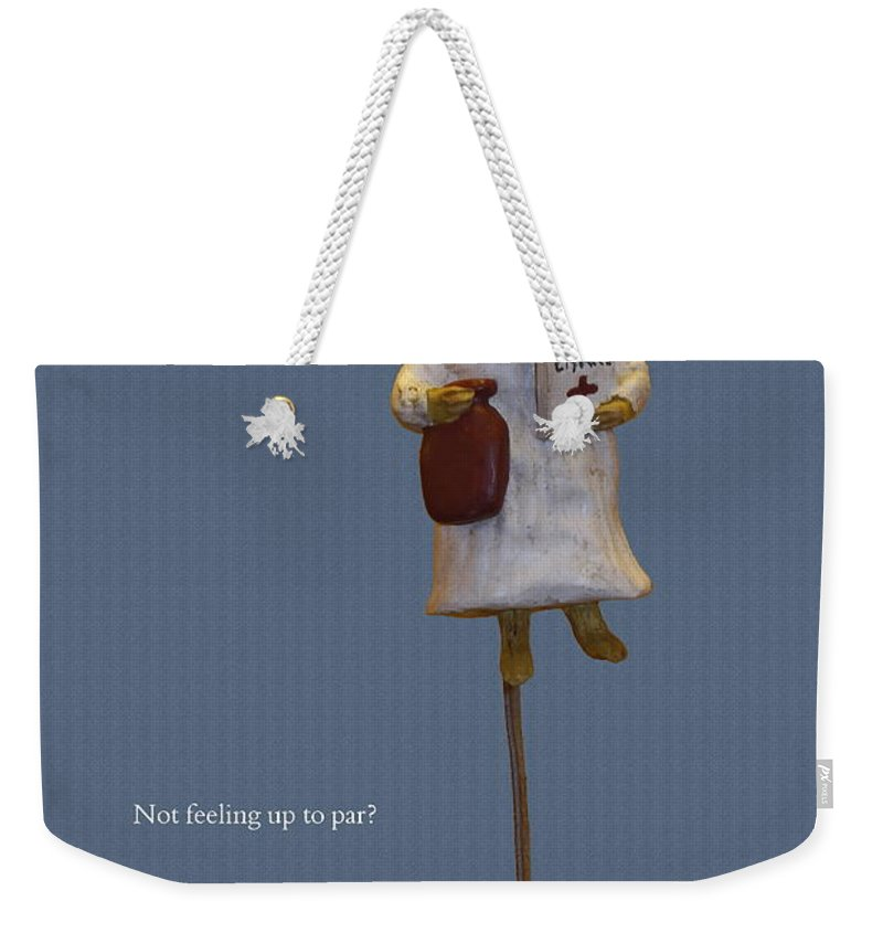 Nurse Mouse Figure Weekender Tote Bag featuring the photograph Nurse Mouse by Sally Weigand