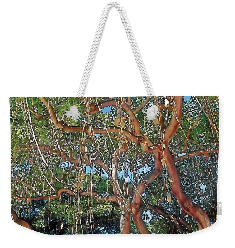 Tranquil Weekender Tote Bag featuring the painting Nurture by Terry Reynoldson