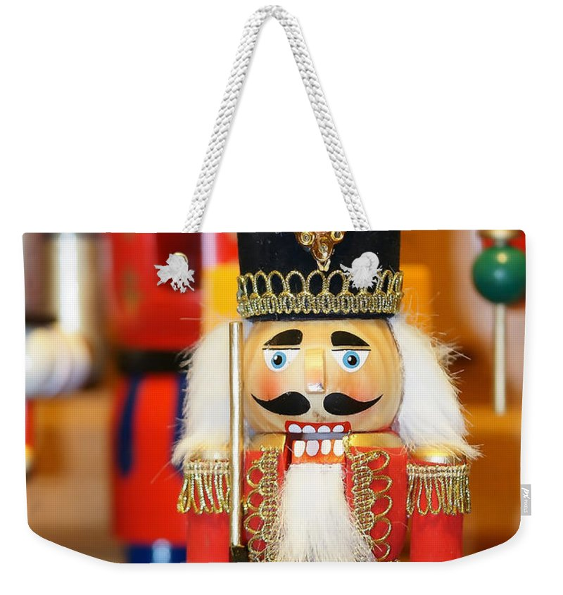 Colors Weekender Tote Bag featuring the photograph Nutcracker by Alex Grichenko