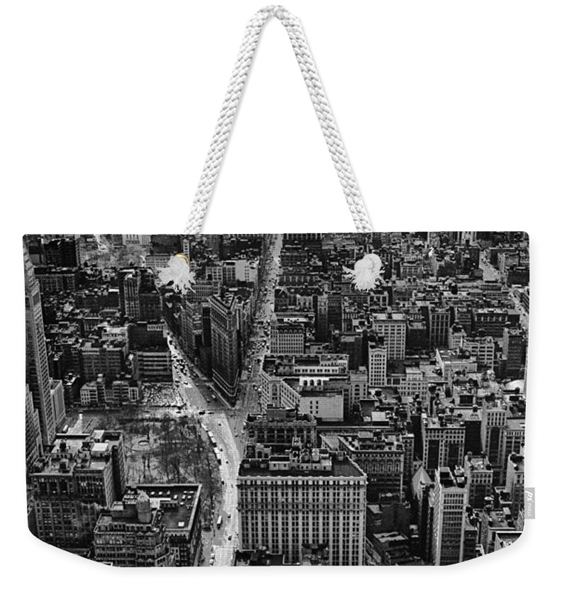 911 Weekender Tote Bag featuring the photograph Nyc Downtown - Black And White by Steven Hlavac