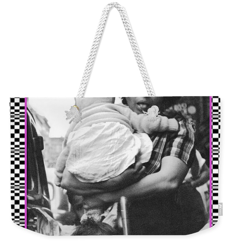 Attitude Weekender Tote Bag featuring the photograph Nyc Mom by Melissa A Benson