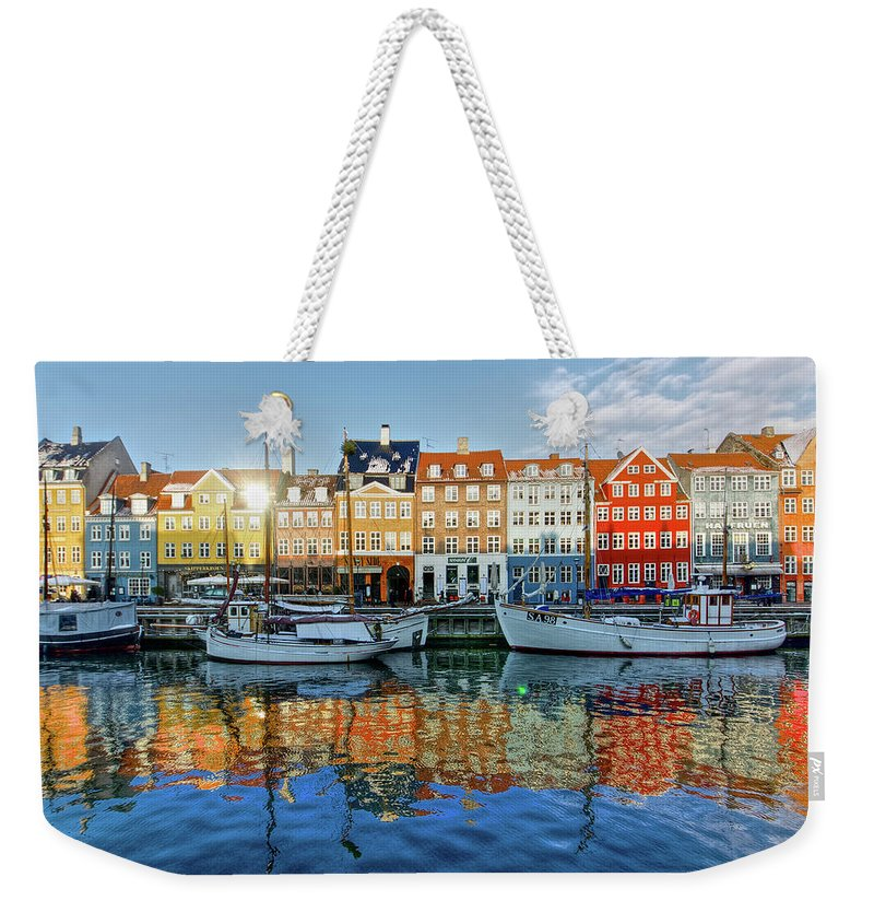 Copenhagen Weekender Tote Bag featuring the photograph Nyhavn, Copenhagen, Denmark by Kateryna Negoda