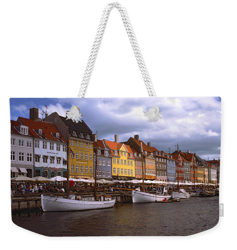 Canal Scene Weekender Tote Bag featuring the photograph Nyhavn Copenhagen by Sally Weigand