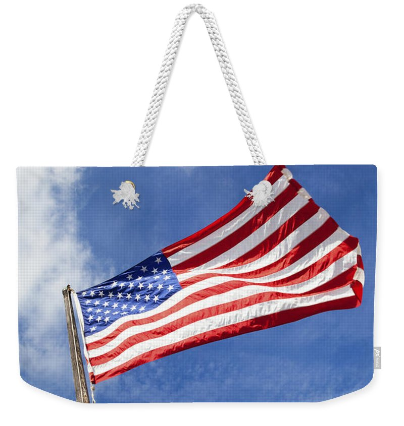 Freedom Weekender Tote Bag featuring the photograph O Say Can You See by Diane Macdonald