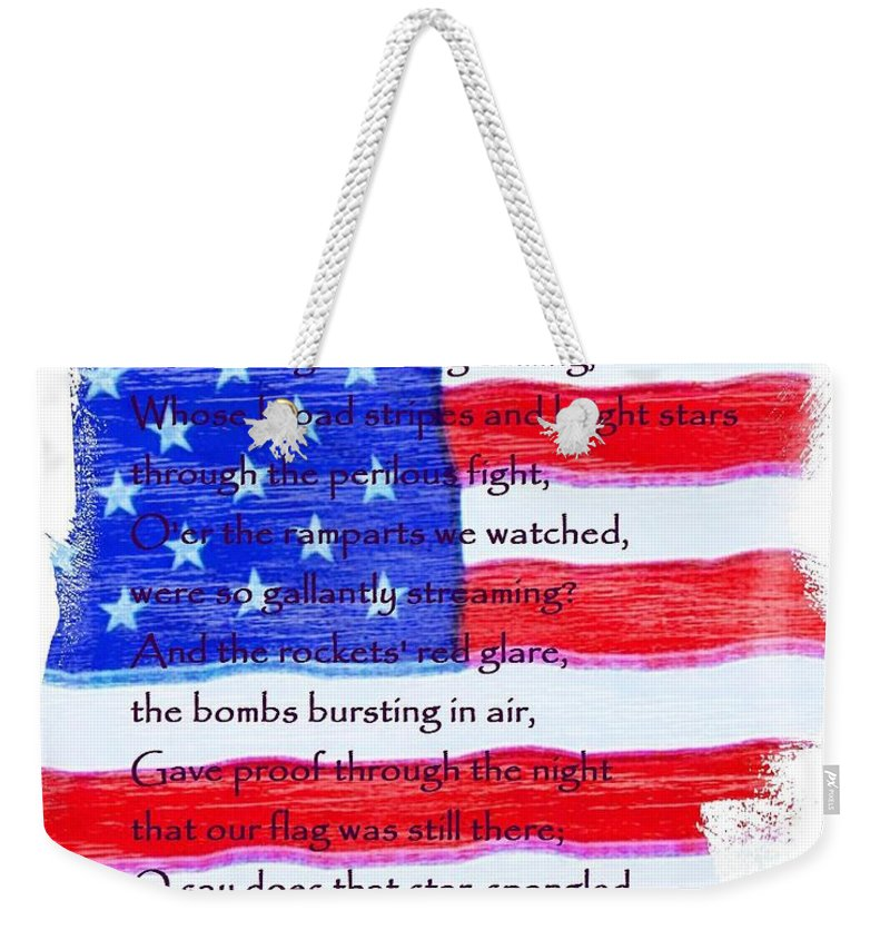 Usa Weekender Tote Bag featuring the photograph O Say Can You See by Robert ONeil